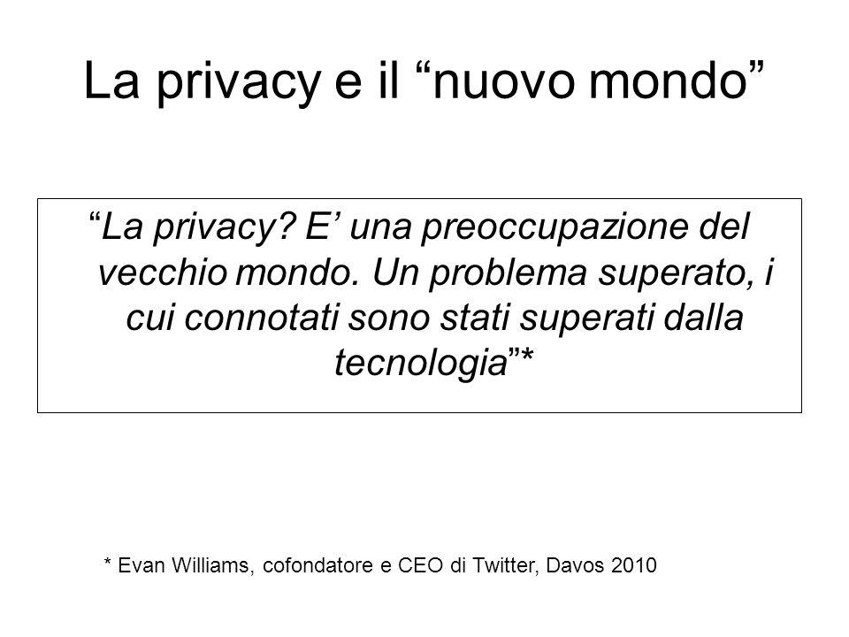 La privacy e il nuovo mondo