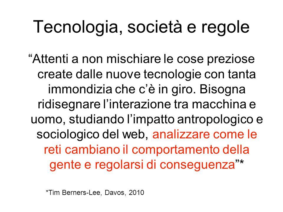 Tecnologia, società e regole