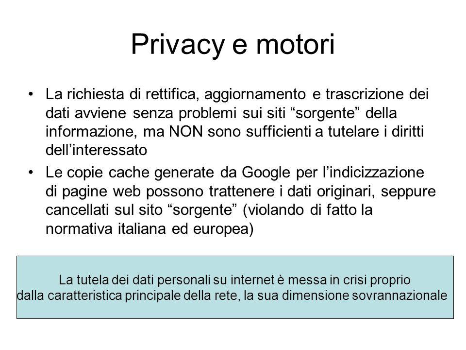 La tutela dei dati personali su internet è messa in crisi proprio