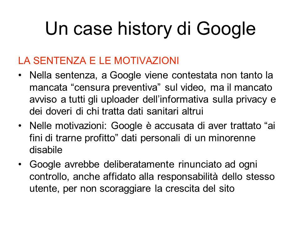 Un case history di Google