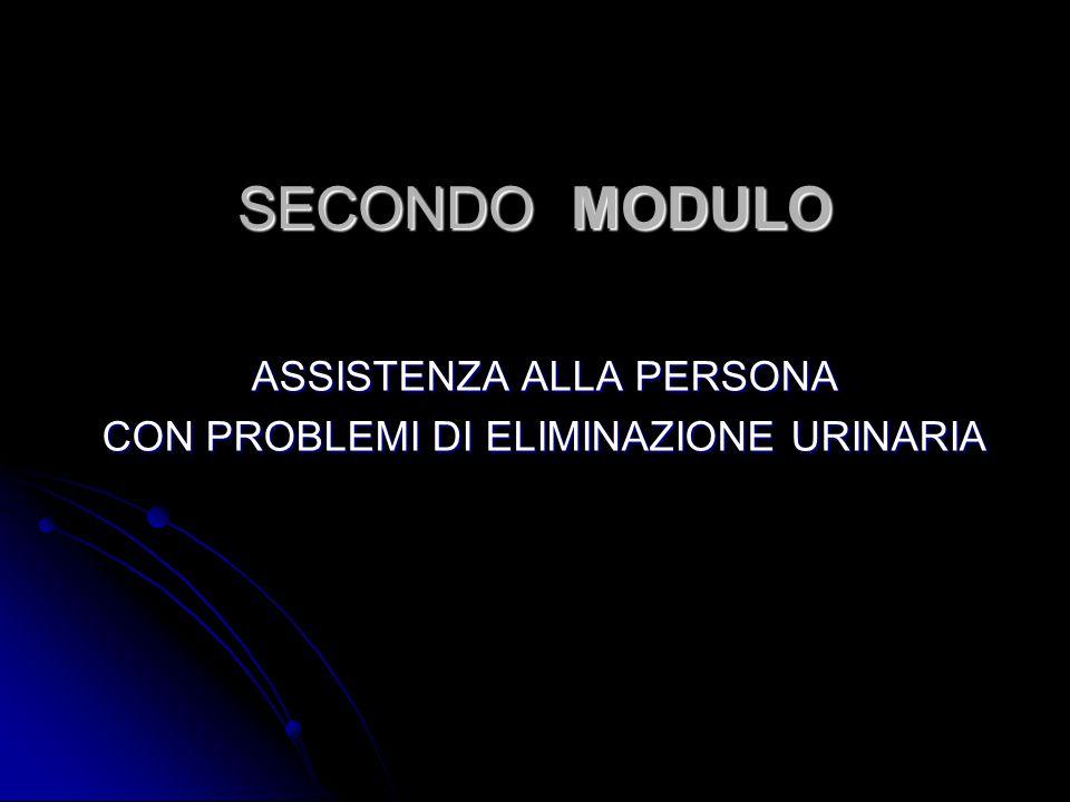 SECONDO MODULO ASSISTENZA ALLA PERSONA