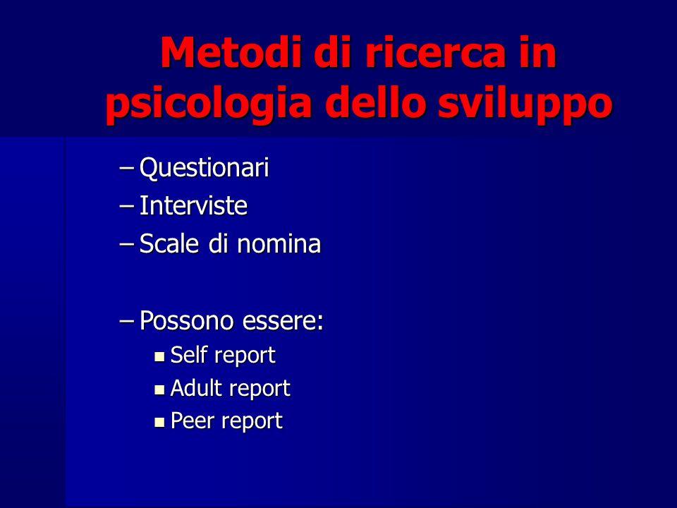 Metodi di ricerca in psicologia dello sviluppo