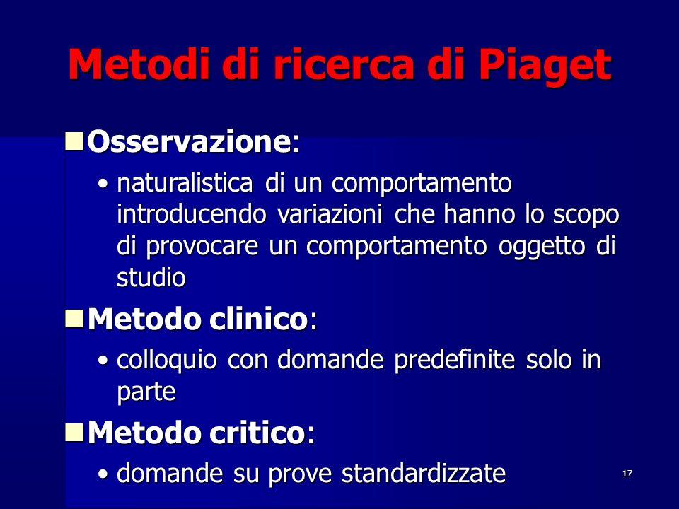 Metodi di ricerca di Piaget