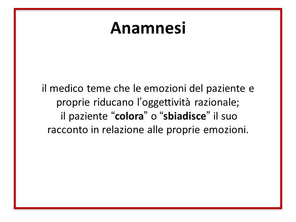 Anamnesi il medico teme che le emozioni del paziente e