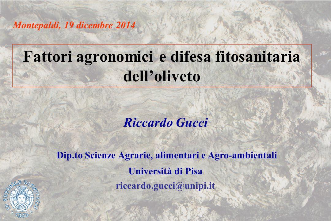 Fattori agronomici e difesa fitosanitaria dell'oliveto