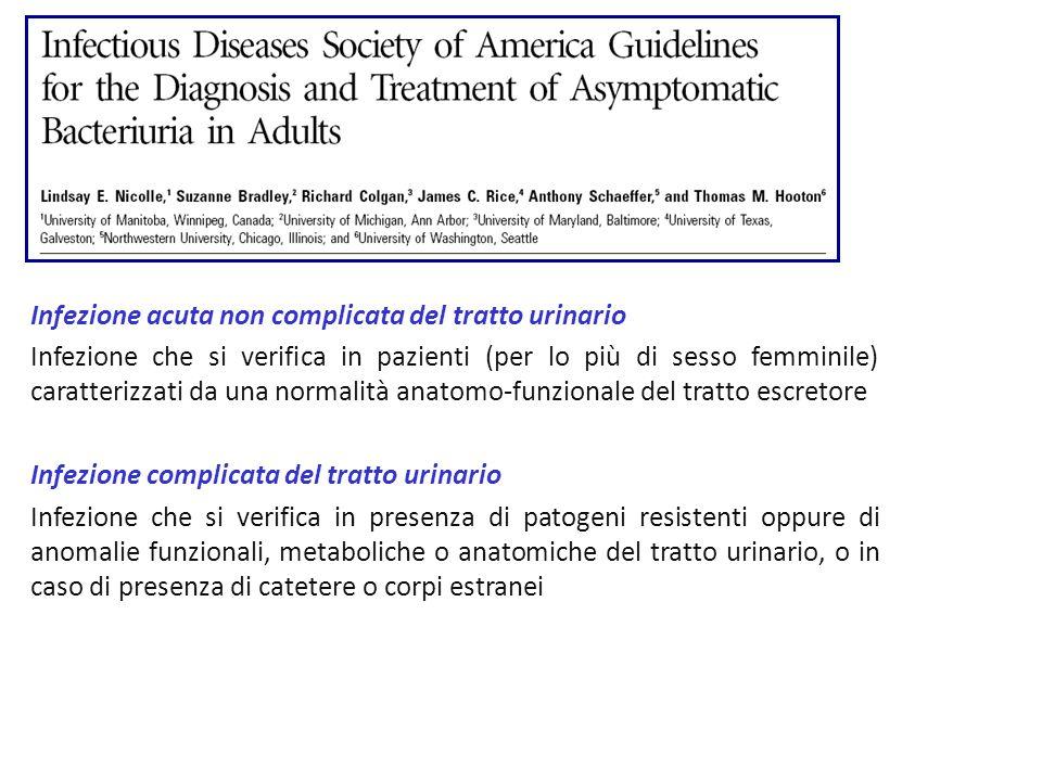 Infezione acuta non complicata del tratto urinario