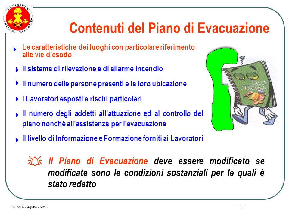 Contenuti del Piano di Evacuazione