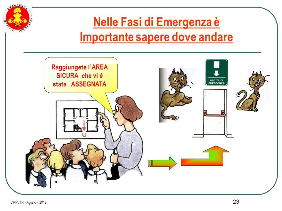 Nelle Fasi di Emergenza è Importante sapere dove andare