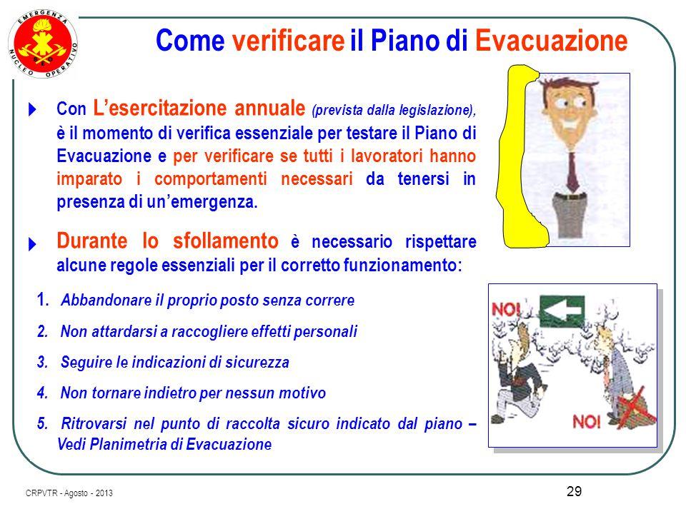 Come verificare il Piano di Evacuazione