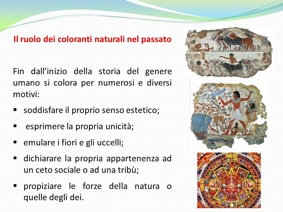 Il ruolo dei coloranti naturali nel passato