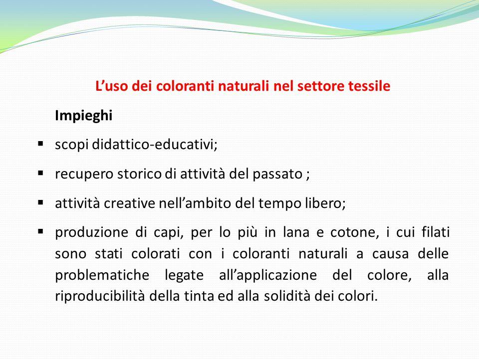 L'uso dei coloranti naturali nel settore tessile