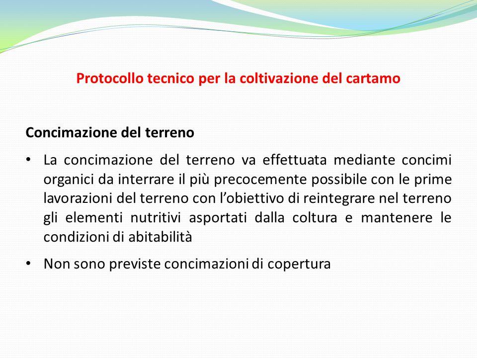Protocollo tecnico per la coltivazione del cartamo