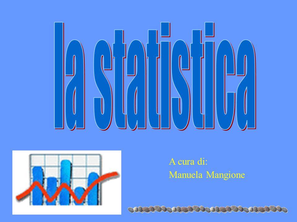 la statistica A cura di: Manuela Mangione