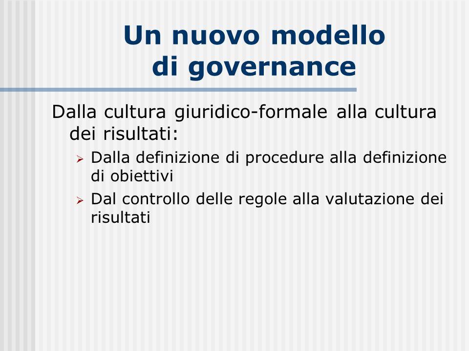 Un nuovo modello di governance