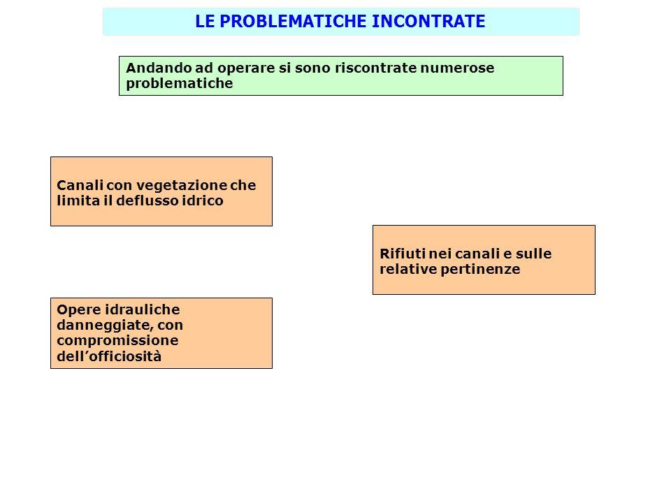 LE PROBLEMATICHE INCONTRATE