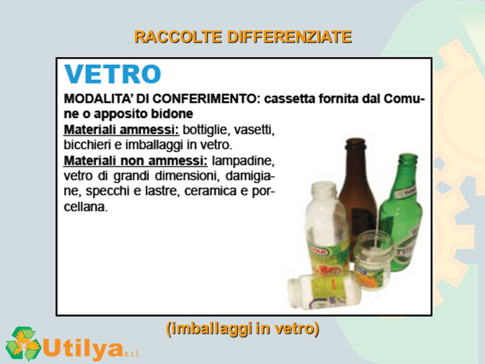 RACCOLTE DIFFERENZIATE