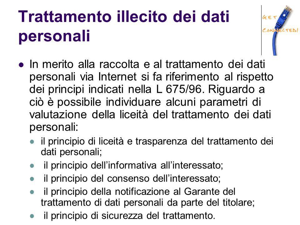 Trattamento illecito dei dati personali