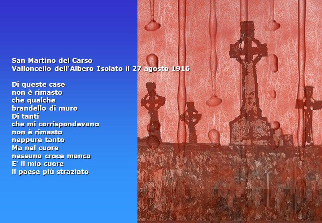 San Martino del Carso Valloncello dell Albero Isolato il 27 agosto 1916