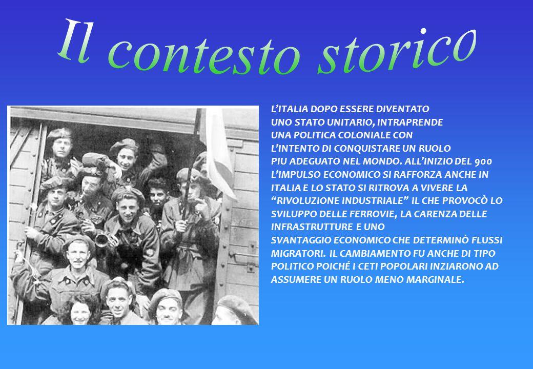 Il contesto storico L'ITALIA DOPO ESSERE DIVENTATO