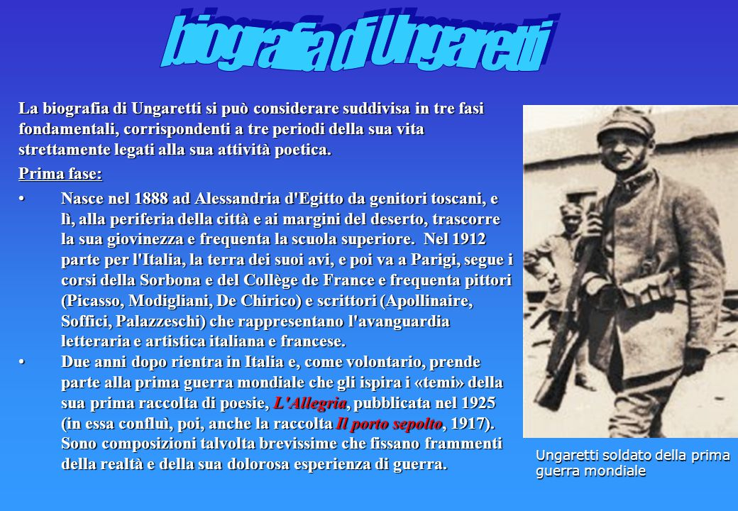 biografia di Ungaretti