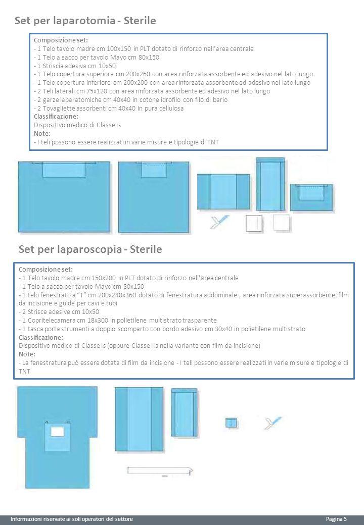 Set per laparotomia - Sterile
