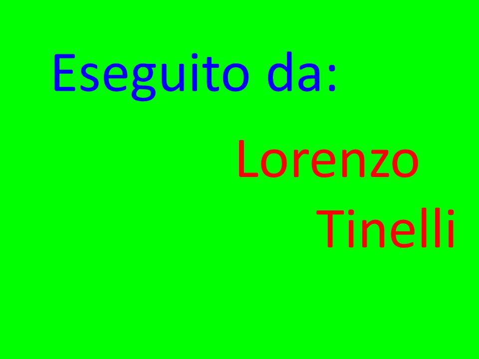 Eseguito da: Lorenzo Tinelli