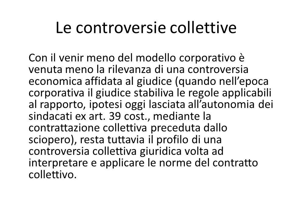 Le controversie collettive