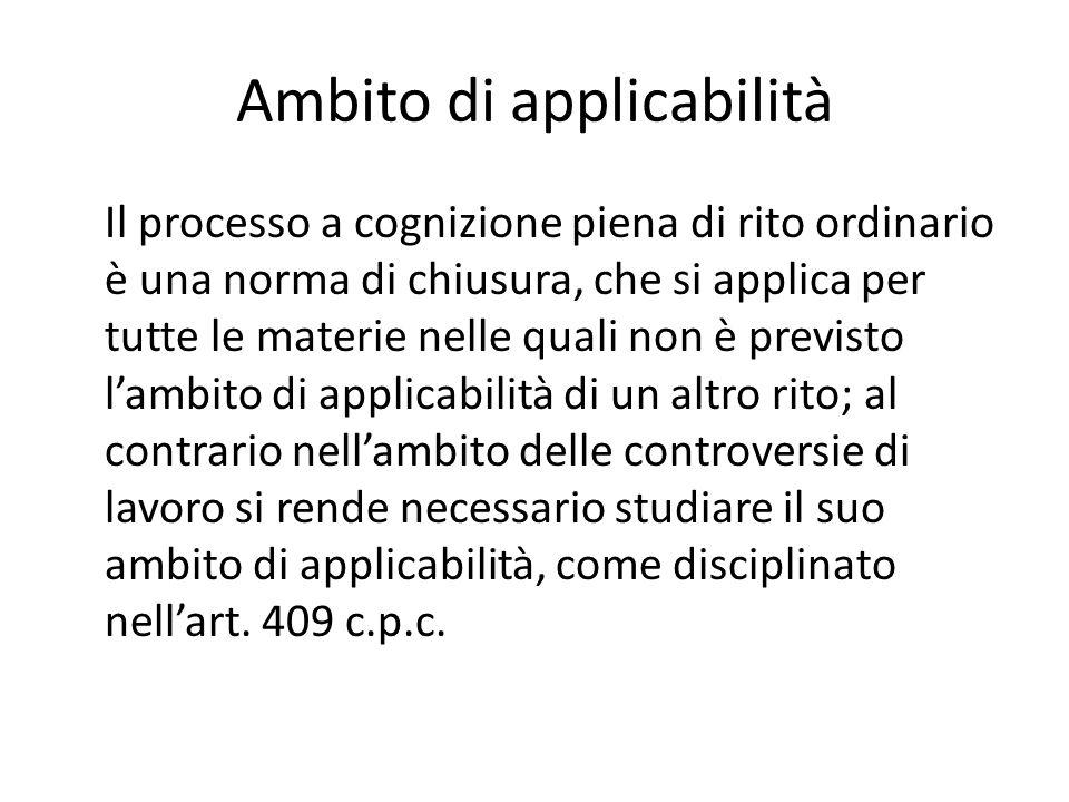 Ambito di applicabilità