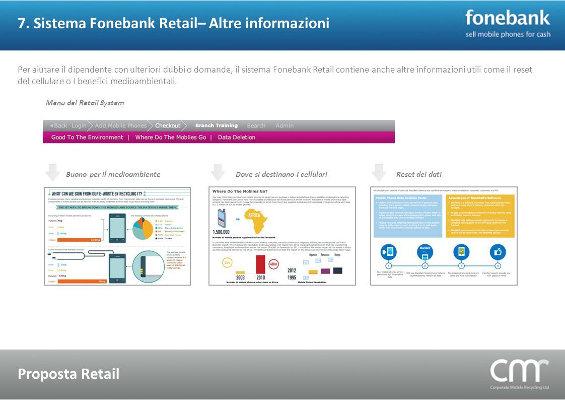 7. Sistema Fonebank Retail– Altre informazioni