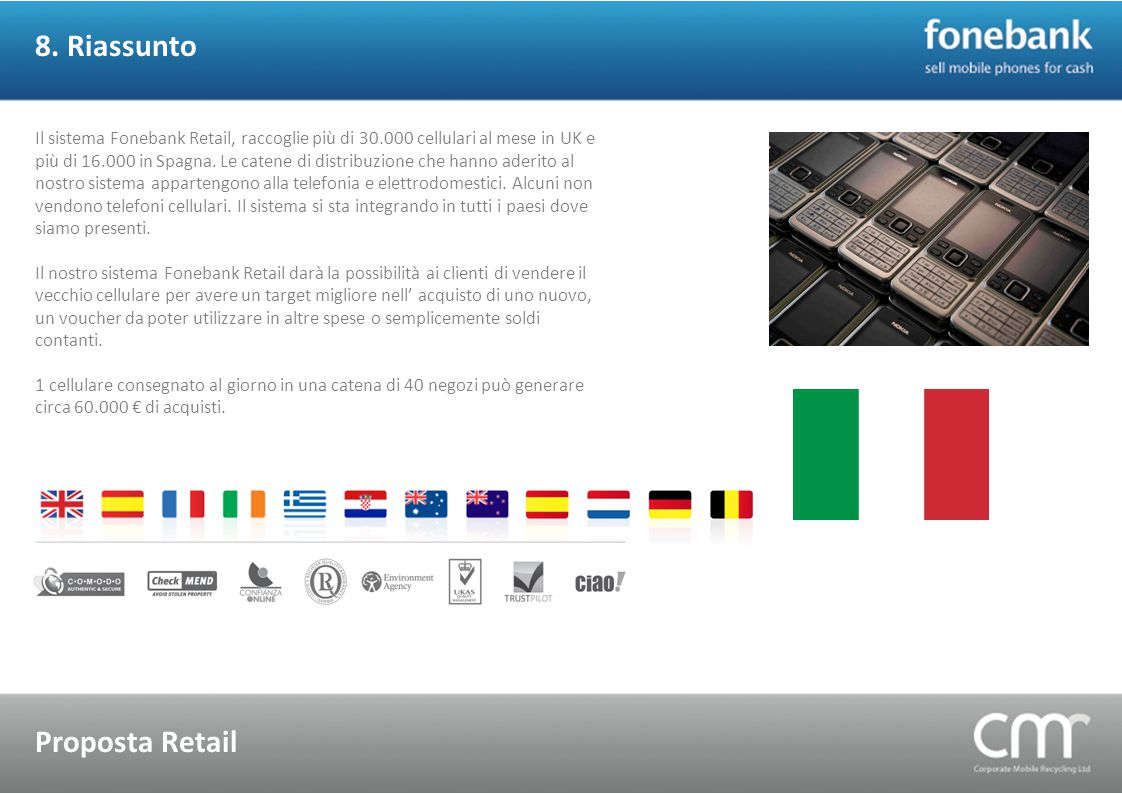 8. Riassunto Proposta Retail