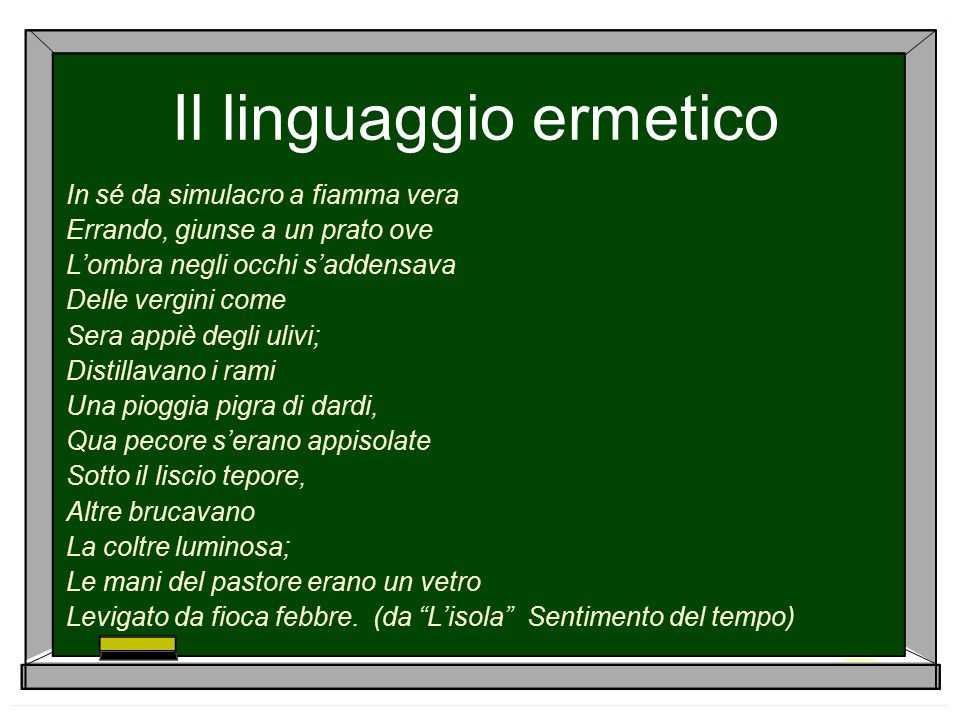 Il linguaggio ermetico