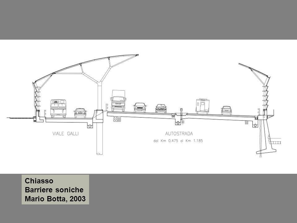 Chiasso Barriere soniche Mario Botta, 2003