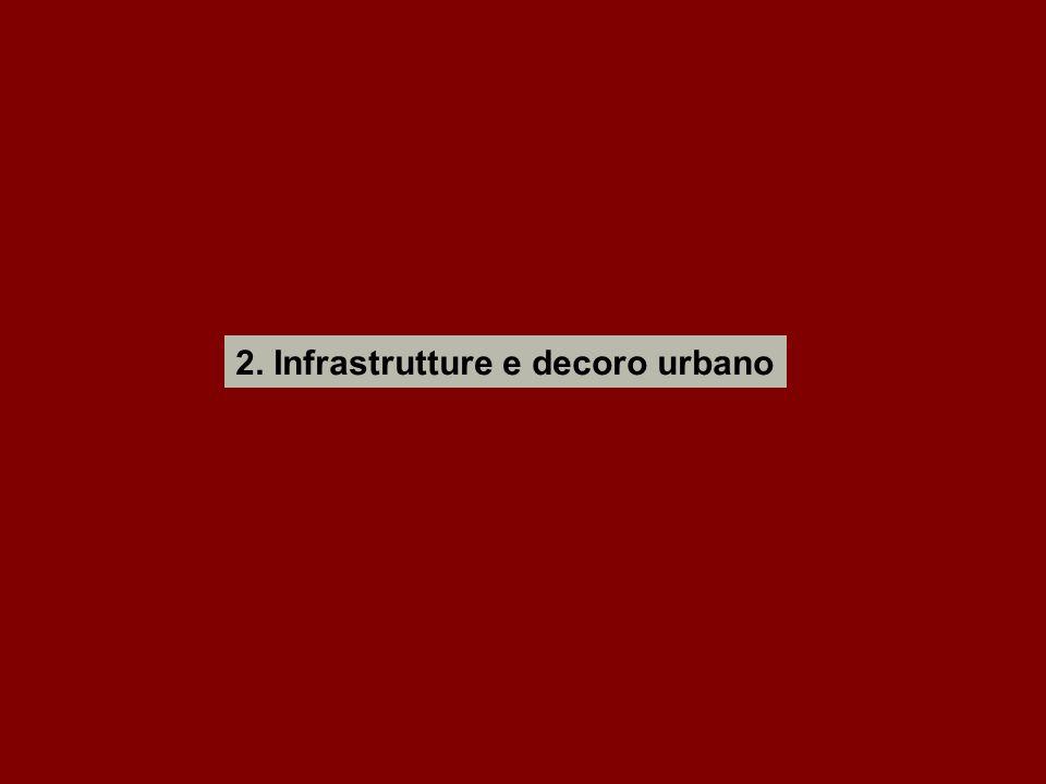 2. Infrastrutture e decoro urbano