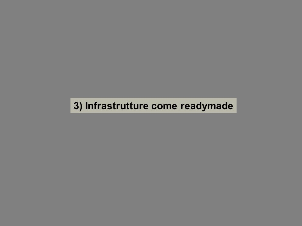 3) Infrastrutture come readymade