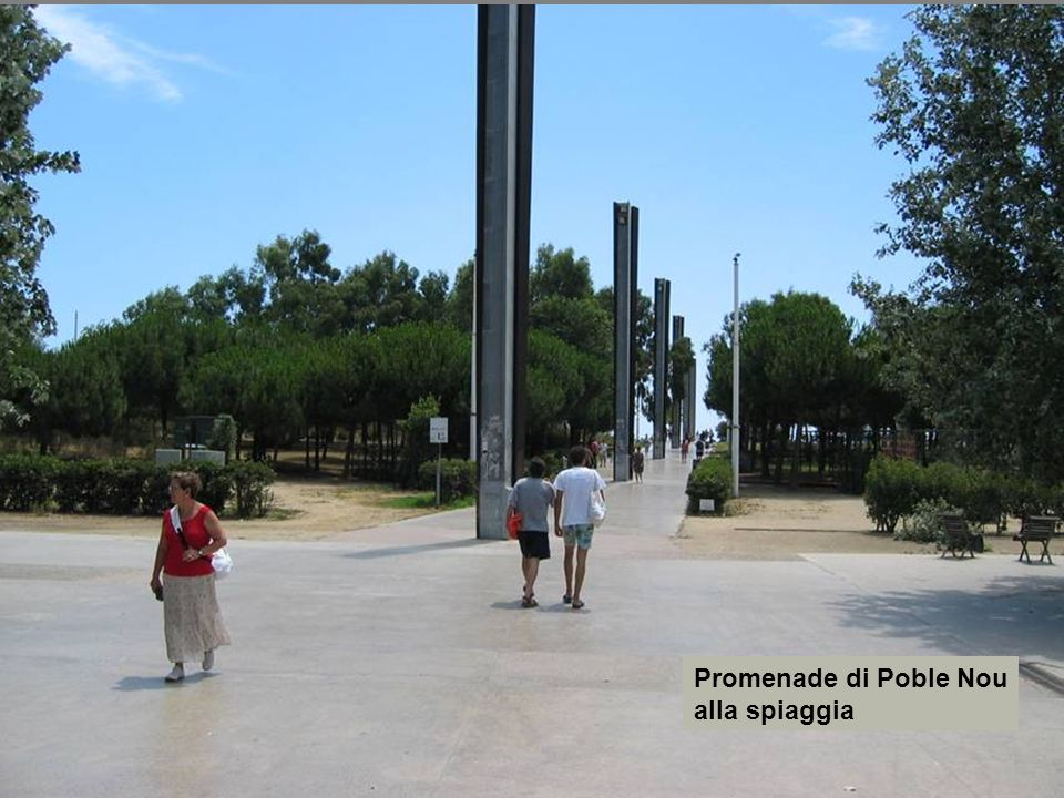 Promenade di Poble Nou alla spiaggia