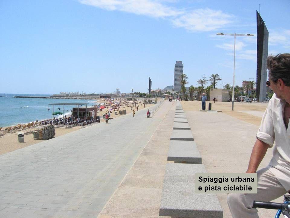 Spiaggia urbana e pista ciclabile