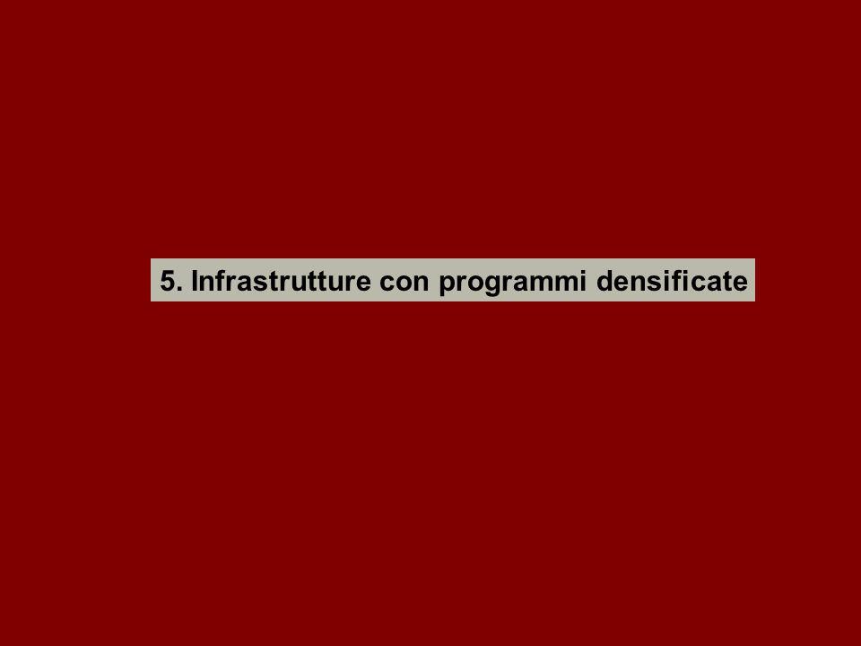 5. Infrastrutture con programmi densificate