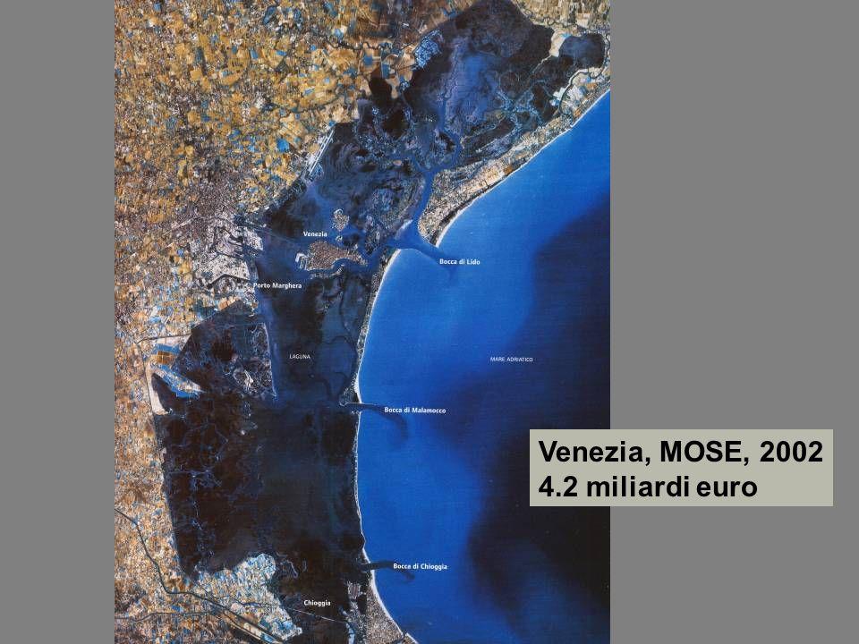 Venezia, MOSE, 2002 4.2 miliardi euro