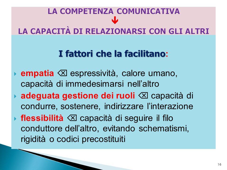 LA COMPETENZA COMUNICATIVA  LA CAPACITÀ DI RELAZIONARSI CON GLI ALTRI
