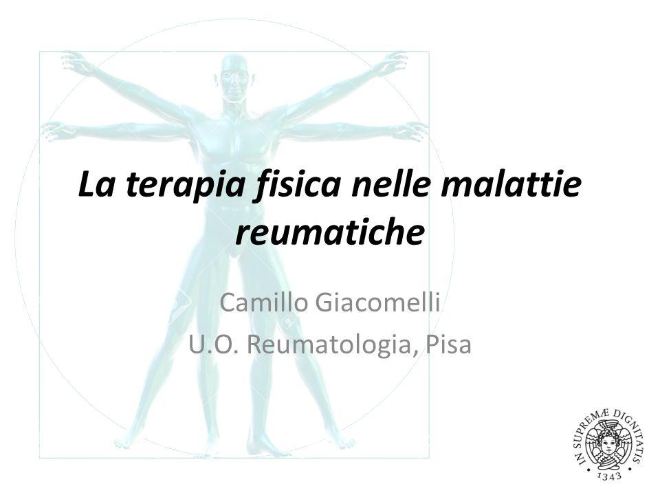 La terapia fisica nelle malattie reumatiche