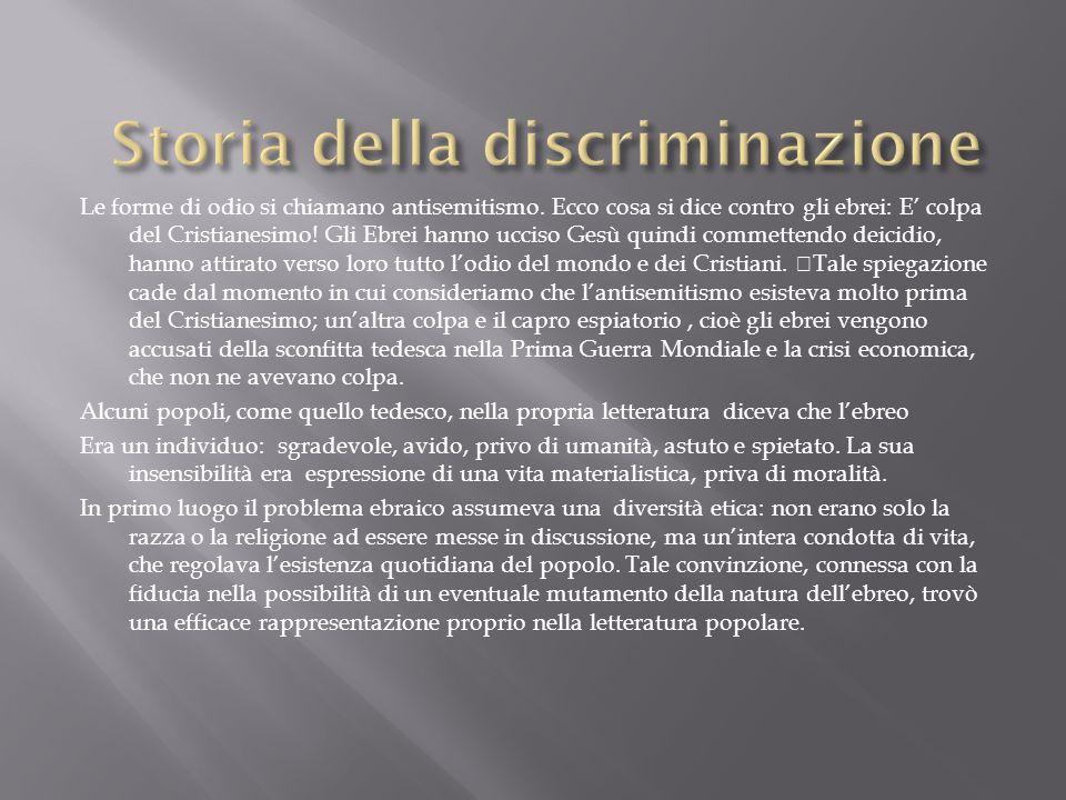 Storia della discriminazione