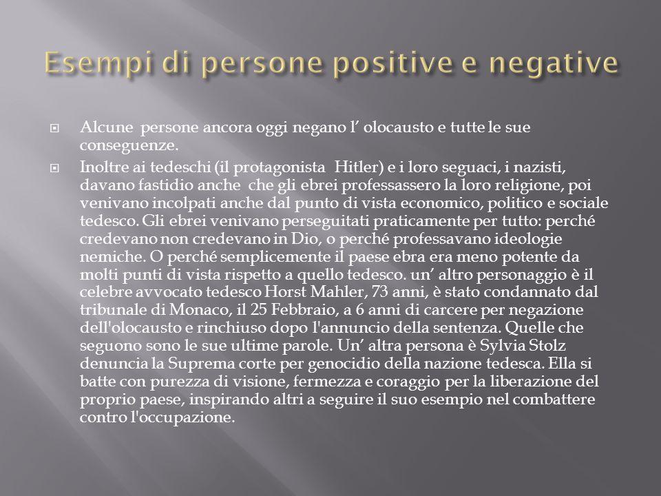 Esempi di persone positive e negative