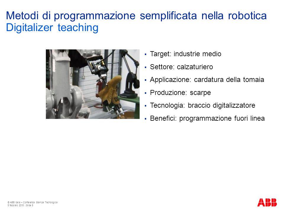 Metodi di programmazione semplificata nella robotica