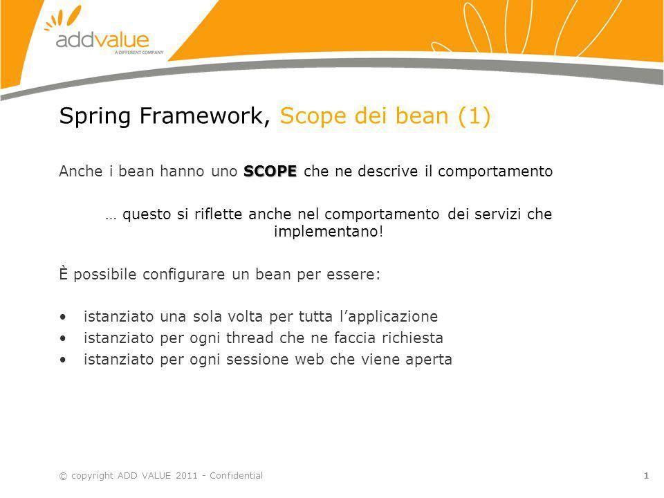 Spring Framework, Scope dei bean (1)