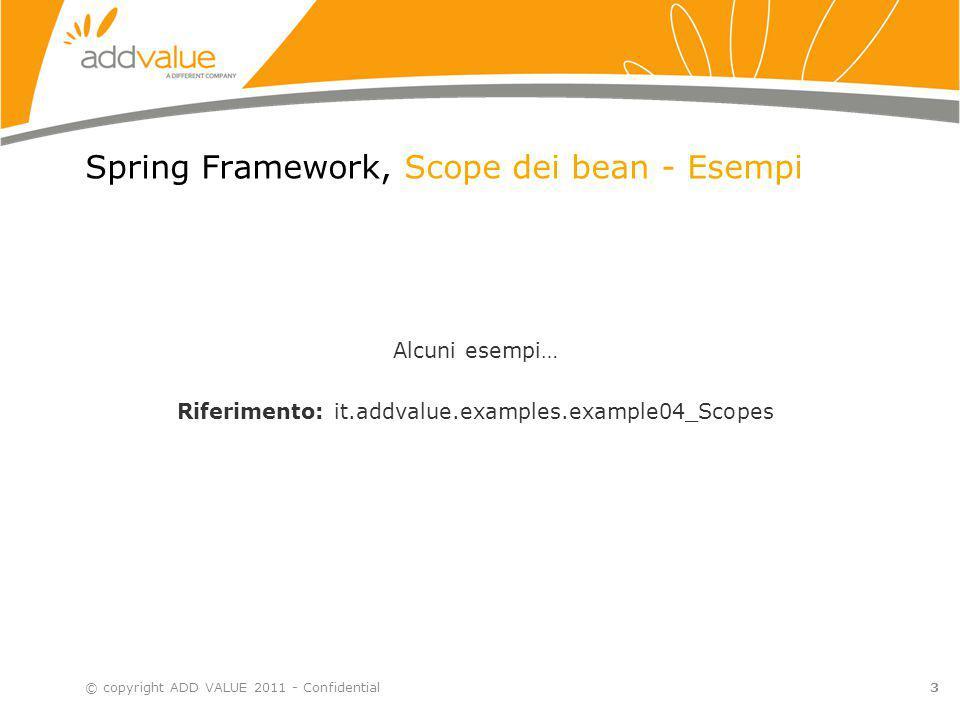 Spring Framework, Scope dei bean - Esempi