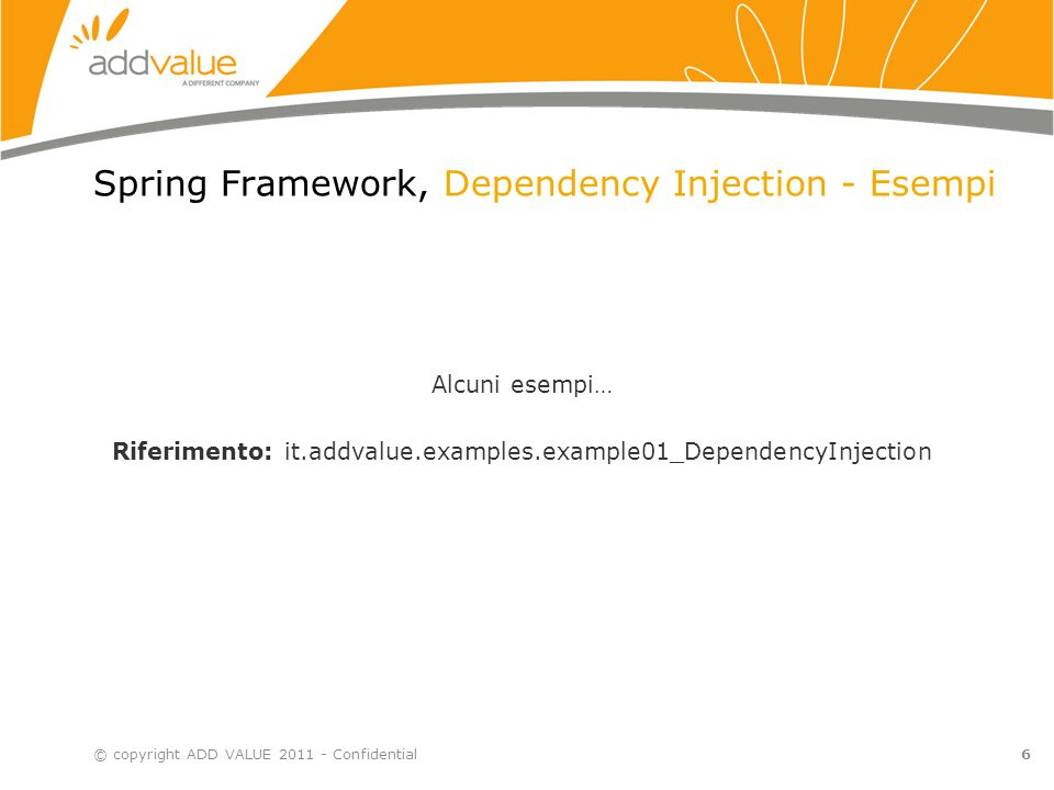 Spring Framework, Dependency Injection - Esempi