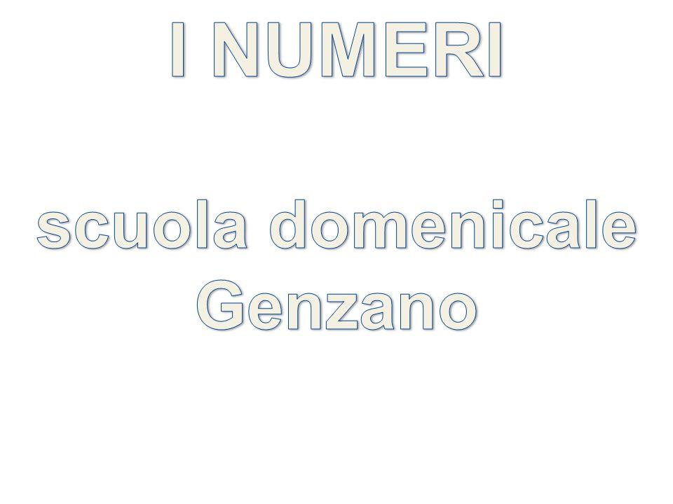I NUMERI scuola domenicale Genzano