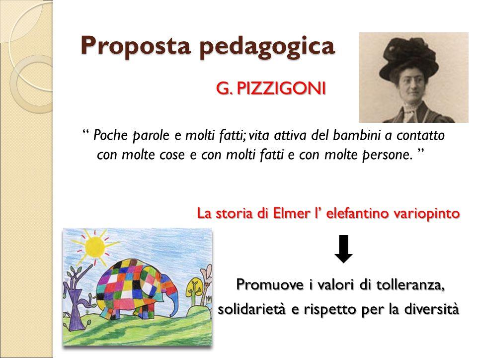 Proposta pedagogica G. PIZZIGONI Promuove i valori di tolleranza,