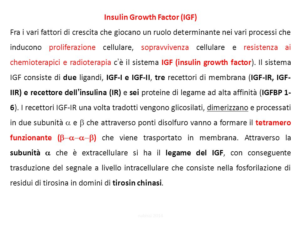 Insulin Growth Factor (IGF)