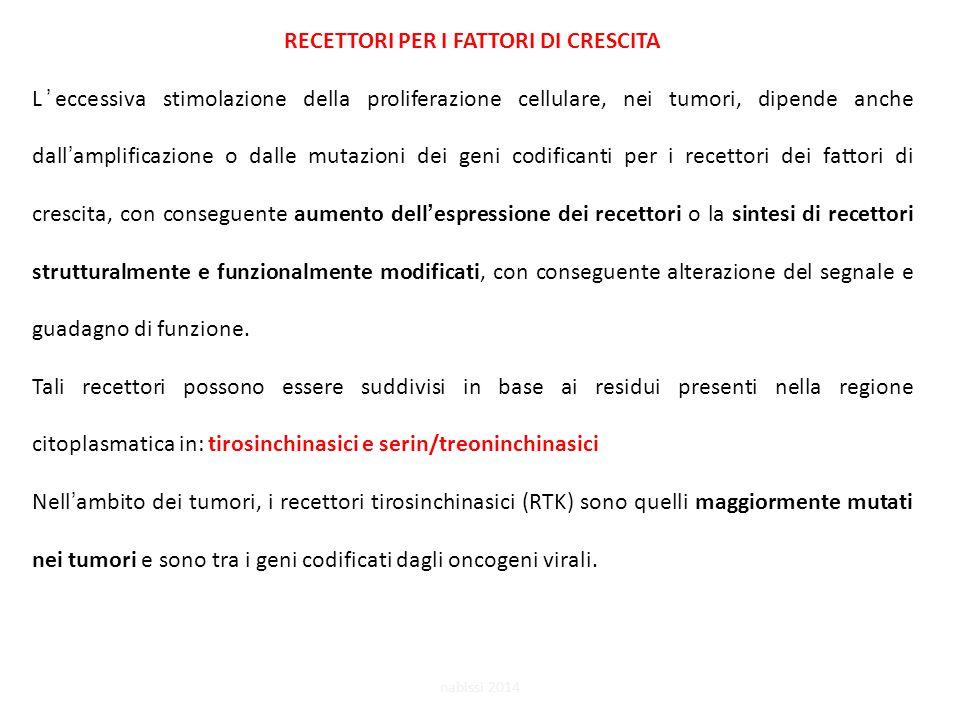 RECETTORI PER I FATTORI DI CRESCITA